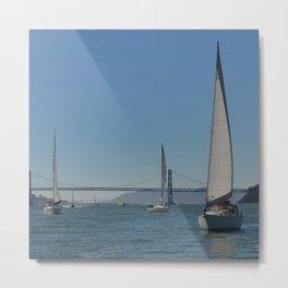 boats and bridges Metal Print