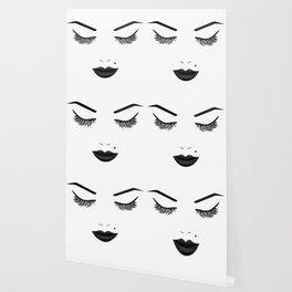 Black Lips Beauty Face Wallpaper