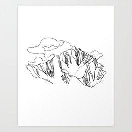 Blue Ridge :: Single Line Art Print