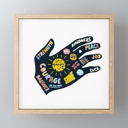 Positivity – Helping Hand Framed Mini Art Print