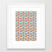dinosaur Framed Art Prints featuring Dinosaur by iamworkinghard