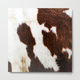 Cowhide Brown Spots Metal Print