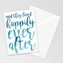 And they live happily ever after... Stationery Cards