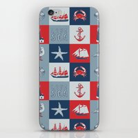 nautical iPhone & iPod Skins featuring Nautical by Julscela