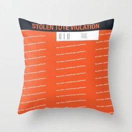Stolen Chicago Tote Throw Pillow