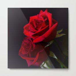 Two Red Roses in Camelot Metal Print