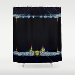 Electric Candlelight Shower Curtain