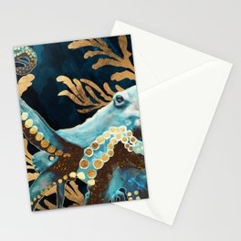 Indigo Octopus Stationery Cards