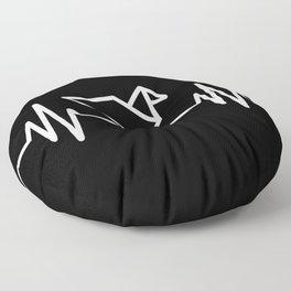 Origami Heartbeat Floor Pillow