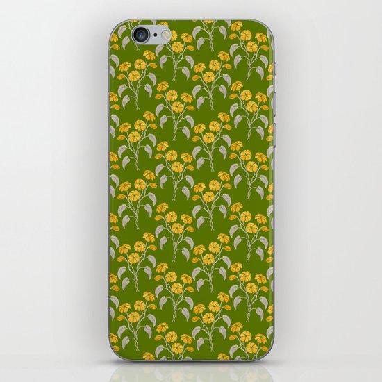 Flowers Green Pattern iPhone & iPod Skin