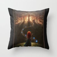 be brave Throw Pillows featuring Brave by Westling