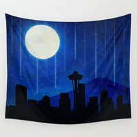 seattle Wall Tapestries featuring Sleepless Seattle by Noonday Design