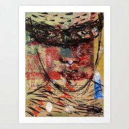 fighting the giant antaeus Art Print