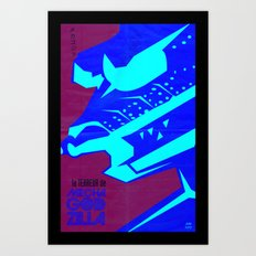 Mecha-terror! Art Print