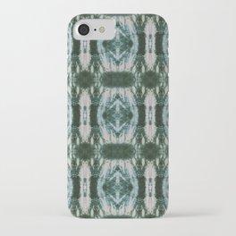 Green Shibori Hedges iPhone Case