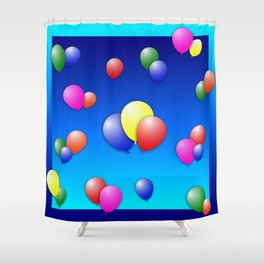 Balloon Fun Shower Curtain