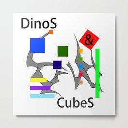 Seracusso - DinoS & CubeS Metal Print
