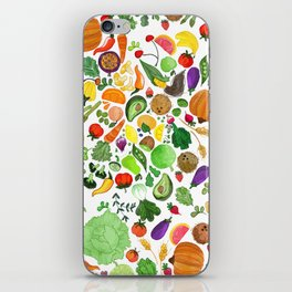 Fruit and Veg Pattern iPhone Skin