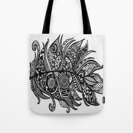 Zen Tangle Feather Tote Bag