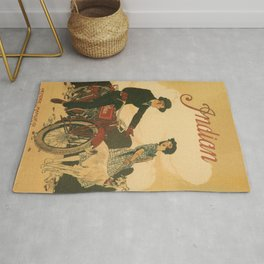 Vintage poster - Indian Motorcycles Rug