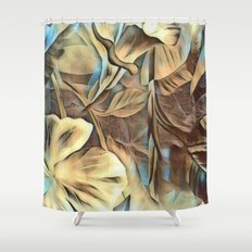 Neutral Abstract Shower Curtain