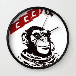 Soviet Space Monkey Wall Clock