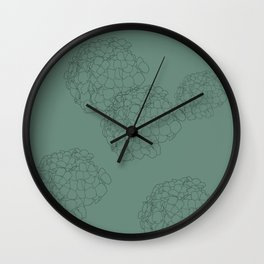 Blooming Botanical Floral Print Wall Clock