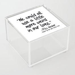 Fan-favorite Fitz Quote Acrylic Box