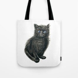 Black kitten Tote Bag