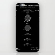 Golf Ball Patent - Black iPhone & iPod Skin