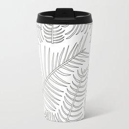 Leaves Outline Travel Mug