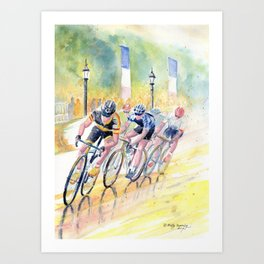 Colorful Bike Race Art Art Print
