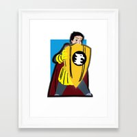 dungeons and dragons Framed Art Prints featuring DUNGEONS & DRAGONS - ERIC by Zorio