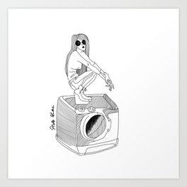 Don't touch my ashing machine Art Print
