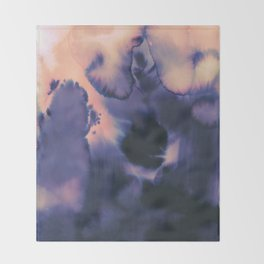 water color wave II collab Dylan Silva Throw Blanket