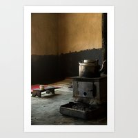 kitchen Art Prints featuring Kitchen by Gaspard Walter