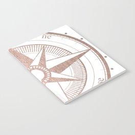 Rose Gold Compass Notebook