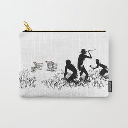 Banksy Trolleys Men Hunting Supermarket Carts Artwork Reproduction for Prints Posters Tshirts Carry-All Pouch