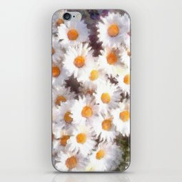 Spring Daisy Wildflower Watercolor iPhone Skin