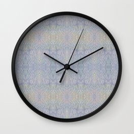 Opal Feathers Wall Clock