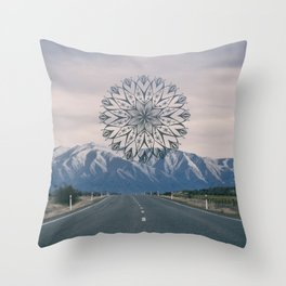 Road to the Mountain Throw Pillow
