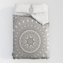 Black and White Feather Mandala Boho Hippie Comforters