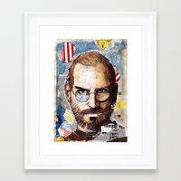 steve jobs Framed Art Prints featuring Steve Jobs by Mariogogh