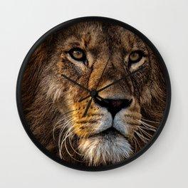 Fierce Proud Lion Predator Wall Clock