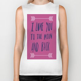 To the Moon and Back Biker Tank