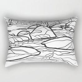 Eno River Sketch 2 Rectangular Pillow