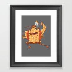 Nunchucks or Nothing! Framed Art Print