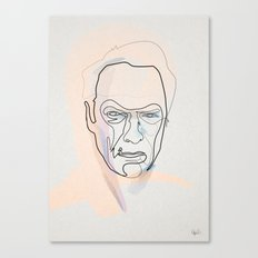 One line Clint Eastwood Canvas Print