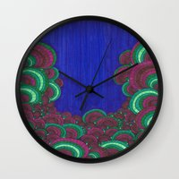 dr seuss Wall Clocks featuring Dr. Seuss 7 by Sarah J Bierman