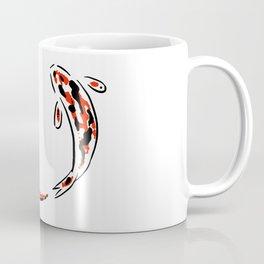 Black and Red Koi Fish Coffee Mug